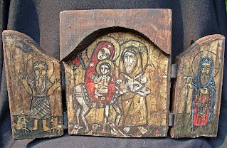 Ancient Coptic icons seized at Cairo airport aug2013