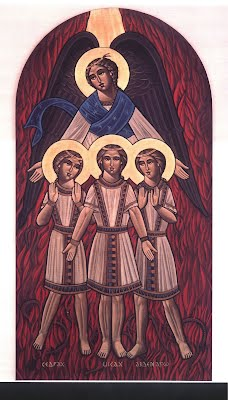 Icon of the Three Holy Youth in the Fiery Furnace (Daniel Chapter 3)